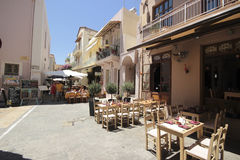 Rethymno restaurant Stock Images