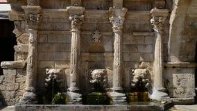 Rethymno Rimondi fountain stock footage