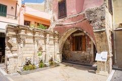 Rethymno Rimondi stara grodzka fontanna Zdjęcia Royalty Free