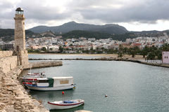 Rethymno Stadt lizenzfreies stockfoto