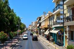 Rethymno-Stadtleitartikel Stockfoto