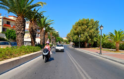 Rethymno-Stadtleitartikel Stockbilder