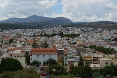 Rethymno town. City view from the old castle royalty free stock photography
