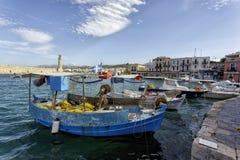 Rethymno Venetian erahamn Royaltyfri Fotografi