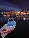 Rethymno Venetian hamn Fotografering för Bildbyråer
