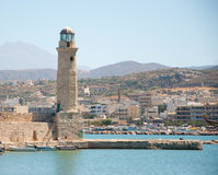 Rethymno zatoka. Crete. Fotografia Stock