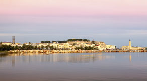 Rethymnon city dawn Royalty Free Stock Images
