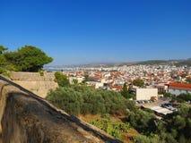 Rethymnon et la forteresse célèbre de Fortezza photo libre de droits