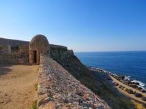 Rethymnon et la forteresse célèbre de Fortezza photo stock