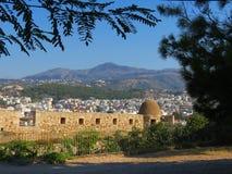 Rethymnon et la forteresse célèbre de Fortezza photos libres de droits