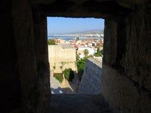 Rethymnon et la forteresse célèbre de Fortezza photographie stock