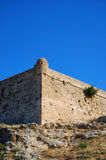 Rethymnon fort 04. An image of the Palaiokastro venetian fort that's also known as the fortezza castle in the Greek town of Rethymnon on the island of crete Stock Photography