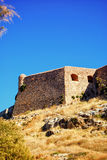 Rethymnon fort 05. An image of the Palaiokastro venetian fort that's also known as the fortezza castle in the Greek town of Rethymnon on the island of crete Stock Photos