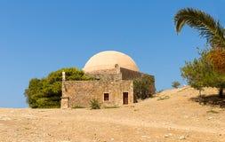 Руины Греции Крита Rethymnon Fortezza мечети здания старого форта исторической путешествов стоковые фото