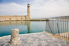 Rethymnon-Hafen, Kreta Stockfotos