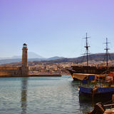 Rethymnon harbor 02. An image of the harbor at Rethymnon on the Greek isle of Crete Royalty Free Stock Photography