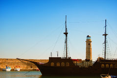 Rethymnon harbor 03 Stock Image
