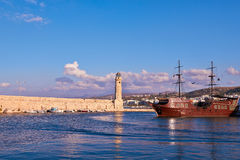 Rethymnon harbor Royalty Free Stock Photo