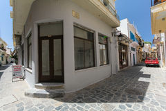 Rethymnon, Island Crete, Greece, - July 1, 2016: Store after renovation on the narrow streets of Rethymnon part of Old Town Stock Photo