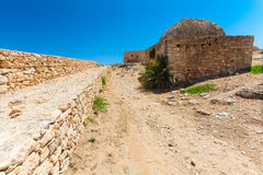 Rethymnon, Island Crete, Greece, - June 23, 2016: View on the inside part of Fortezza Castle in Rethymnon Stock Images