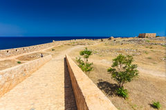 Rethymnon, Island Crete, Greece, - June 23, 2016:View on the inside part of Fortezza Castle in Rethymnon Royalty Free Stock Photography