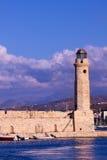 Rethymnon lighthouse Royalty Free Stock Image