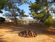 Rethymnon och den berömda fästningen av Fortezza arkivfoton