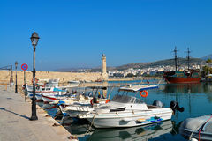 Rethymnon old marina Royalty Free Stock Photo