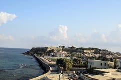 Rethymnon old town,  castle. Crete island Royalty Free Stock Photo