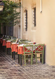 Rethymnon restaurant Royalty Free Stock Images