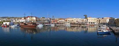 Rethymnon stad bij het eiland van Kreta in Griekenland Stock Foto's
