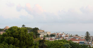 Rethymnon town from old castle (Crete, Greece) Royalty Free Stock Images