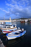 Rethymon harbour in Crete Stock Photos