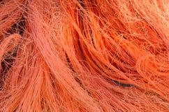 Reti da pesca arancioni Fotografia Stock