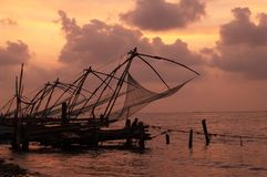 Reti da pesca cinesi immagine stock libera da diritti