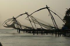 Reti da pesca del Kerala India Fotografia Stock