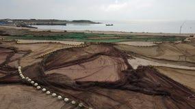 Reti da pesca sparse dal mare Immagine Stock Libera da Diritti