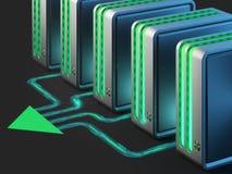 Reti di calcolatore. Computazione della nube. Fotografia Stock Libera da Diritti