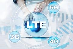 Reti di LTE concetto mobile di Internet 5G e di tecnologia Fotografia Stock Libera da Diritti