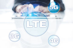 Reti di LTE concetto mobile di Internet 5G e di tecnologia Immagini Stock Libere da Diritti