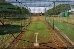 Reti di pratica del cricket Fotografie Stock