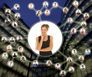 Reti sociali Immagine Stock