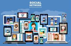 Reti sociali Fotografia Stock Libera da Diritti