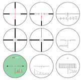 Reticles - vector set Stock Image
