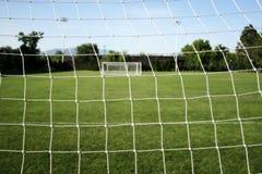 Reticolato calcio/di gioco del calcio Fotografia Stock Libera da Diritti