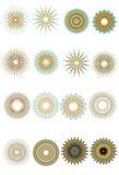 Reticoli circolari decorati Immagini Stock Libere da Diritti