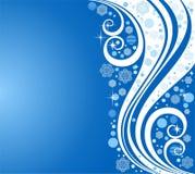 Reticoli con i fiocchi di neve su una priorità bassa blu Immagine Stock