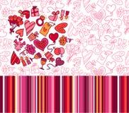 Reticoli del biglietto di S. Valentino Fotografie Stock Libere da Diritti