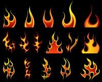 Reticoli del fuoco determinati Fotografia Stock Libera da Diritti