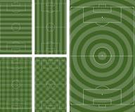 Reticoli del passo di gioco del calcio Fotografie Stock